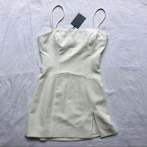 NEW! NBD white spaghetti strap dress.